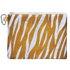 Skin3 White Marble & Yellow Grunge Canvas Cosmetic Bag (xxl) by trendistuff