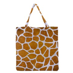 Skin1 White Marble & Yellow Grunge (r) Grocery Tote Bag by trendistuff