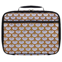 Scales3 White Marble & Yellow Grunge (r) Full Print Lunch Bag