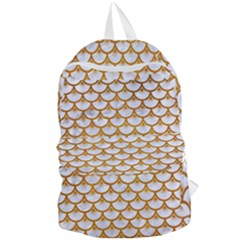 Scales3 White Marble & Yellow Grunge (r) Foldable Lightweight Backpack by trendistuff