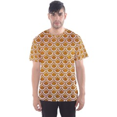 SCALES2 WHITE MARBLE & YELLOW GRUNGE Men s Sports Mesh Tee