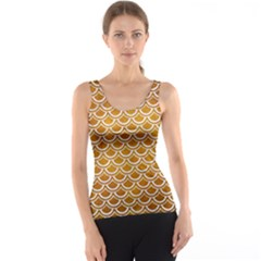 SCALES2 WHITE MARBLE & YELLOW GRUNGE Tank Top