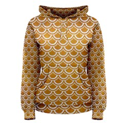 SCALES2 WHITE MARBLE & YELLOW GRUNGE Women s Pullover Hoodie