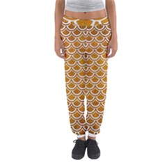 SCALES2 WHITE MARBLE & YELLOW GRUNGE Women s Jogger Sweatpants