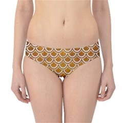 SCALES2 WHITE MARBLE & YELLOW GRUNGE Hipster Bikini Bottoms