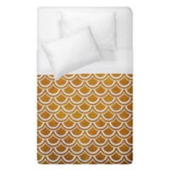 SCALES2 WHITE MARBLE & YELLOW GRUNGE Duvet Cover (Single Size)