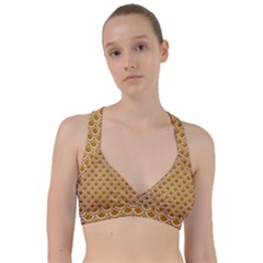 SCALES2 WHITE MARBLE & YELLOW GRUNGE Sweetheart Sports Bra