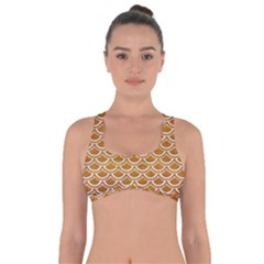 SCALES2 WHITE MARBLE & YELLOW GRUNGE Got No Strings Sports Bra