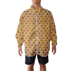 SCALES2 WHITE MARBLE & YELLOW GRUNGE Wind Breaker (Kids)