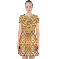 SCALES2 WHITE MARBLE & YELLOW GRUNGE Adorable in Chiffon Dress