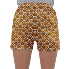 SCALES2 WHITE MARBLE & YELLOW GRUNGE Sleepwear Shorts