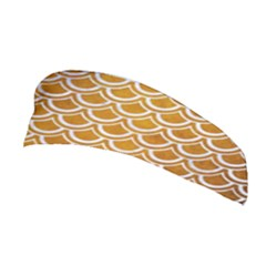 SCALES2 WHITE MARBLE & YELLOW GRUNGE Stretchable Headband