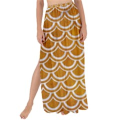 SCALES2 WHITE MARBLE & YELLOW GRUNGE Maxi Chiffon Tie-Up Sarong