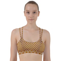 SCALES2 WHITE MARBLE & YELLOW GRUNGE Line Them Up Sports Bra