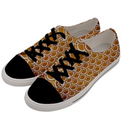 SCALES2 WHITE MARBLE & YELLOW GRUNGE Men s Low Top Canvas Sneakers