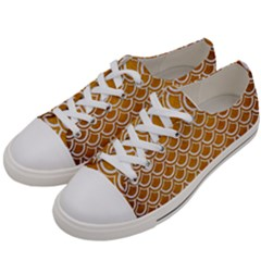 SCALES2 WHITE MARBLE & YELLOW GRUNGE Women s Low Top Canvas Sneakers