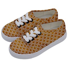SCALES2 WHITE MARBLE & YELLOW GRUNGE Kids  Classic Low Top Sneakers
