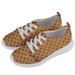 SCALES2 WHITE MARBLE & YELLOW GRUNGE Women s Lightweight Sports Shoes