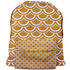 SCALES2 WHITE MARBLE & YELLOW GRUNGE Giant Full Print Backpack