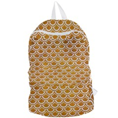 SCALES2 WHITE MARBLE & YELLOW GRUNGE Foldable Lightweight Backpack
