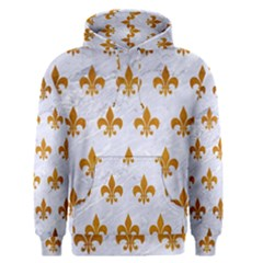 Royal1 White Marble & Yellow Grunge Men s Pullover Hoodie