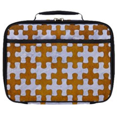 Puzzle1 White Marble & Yellow Grunge Full Print Lunch Bag by trendistuff