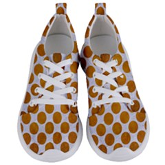 Circles2 White Marble & Yellow Grunge (r) Women s Lightweight Sports Shoes