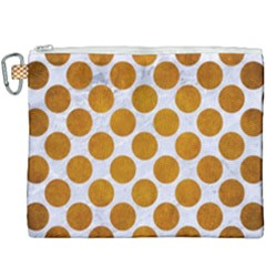 Circles2 White Marble & Yellow Grunge (r) Canvas Cosmetic Bag (xxxl) by trendistuff
