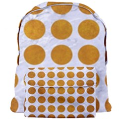 Circles1 White Marble & Yellow Grunge (r) Giant Full Print Backpack by trendistuff