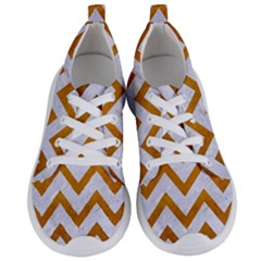 Chevron9 White Marble & Yellow Grunge (r) Women s Lightweight Sports Shoes