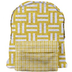 Woven1 White Marble & Yellow Denim Giant Full Print Backpack by trendistuff