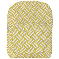 Woven2 White Marble & Yellow Denim Full Print Backpack by trendistuff