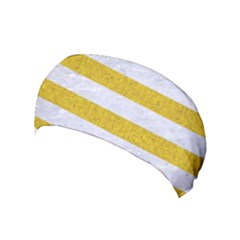 Stripes2white Marble & Yellow Denim Yoga Headband by trendistuff
