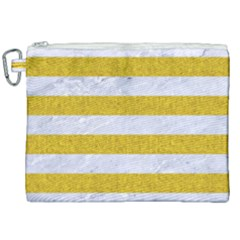 Stripes2white Marble & Yellow Denim Canvas Cosmetic Bag (xxl) by trendistuff