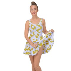 Skin5 White Marble & Yellow Denim Inside Out Dress