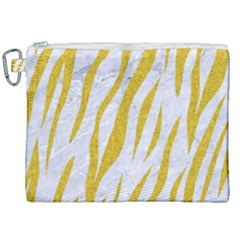 Skin3 White Marble & Yellow Denim (r) Canvas Cosmetic Bag (xxl) by trendistuff
