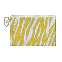 Skin3 White Marble & Yellow Denim Canvas Cosmetic Bag (large) by trendistuff