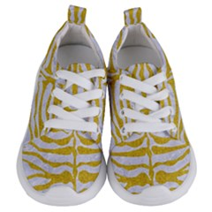 Skin2 White Marble & Yellow Denim (r) Kids  Lightweight Sports Shoes