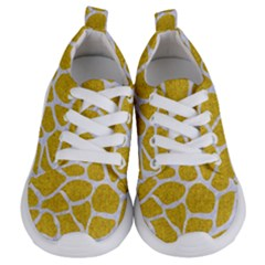 Skin1 White Marble & Yellow Denim (r) Kids  Lightweight Sports Shoes
