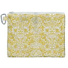 Damask2 White Marble & Yellow Denimhite Marble & Yellow Denim Canvas Cosmetic Bag (xxl) by trendistuff