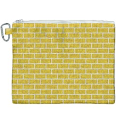 Brick1 White Marble & Yellow Denim Canvas Cosmetic Bag (xxxl) by trendistuff