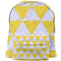 Triangle3 White Marble & Yellow Colored Pencil Giant Full Print Backpack