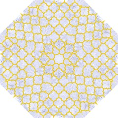 Tile1 White Marble & Yellow Colored Pencil (r) Folding Umbrellas by trendistuff
