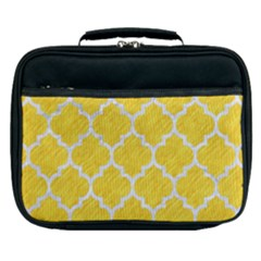 Tile1 White Marble & Yellow Colored Pencil Lunch Bag by trendistuff