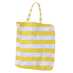 Stripes2white Marble & Yellow Colored Pencil Giant Grocery Zipper Tote by trendistuff