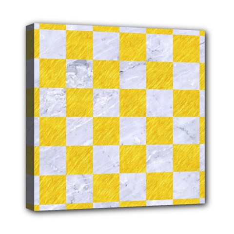 Square1 White Marble & Yellow Colored Pencil Multi Function Bag	 by trendistuff