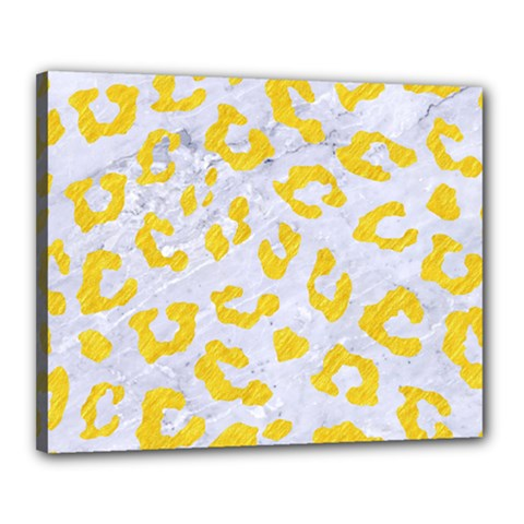 Skin5 White Marble & Yellow Colored Pencil Canvas 20  X 16