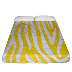 Skin4 White Marble & Yellow Colored Pencil (r) Fitted Sheet (california King Size) by trendistuff