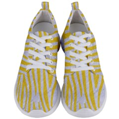 Skin4 White Marble & Yellow Colored Pencil Men s Lightweight Sports Shoes