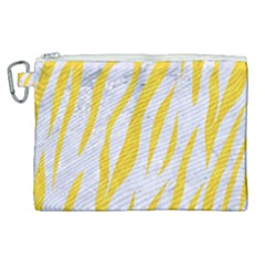 Skin3 White Marble & Yellow Colored Pencil (r) Canvas Cosmetic Bag (xl) by trendistuff
